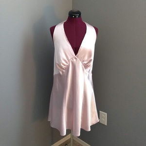 Frederick's of Hollywood Tie Neck Halter Chemise